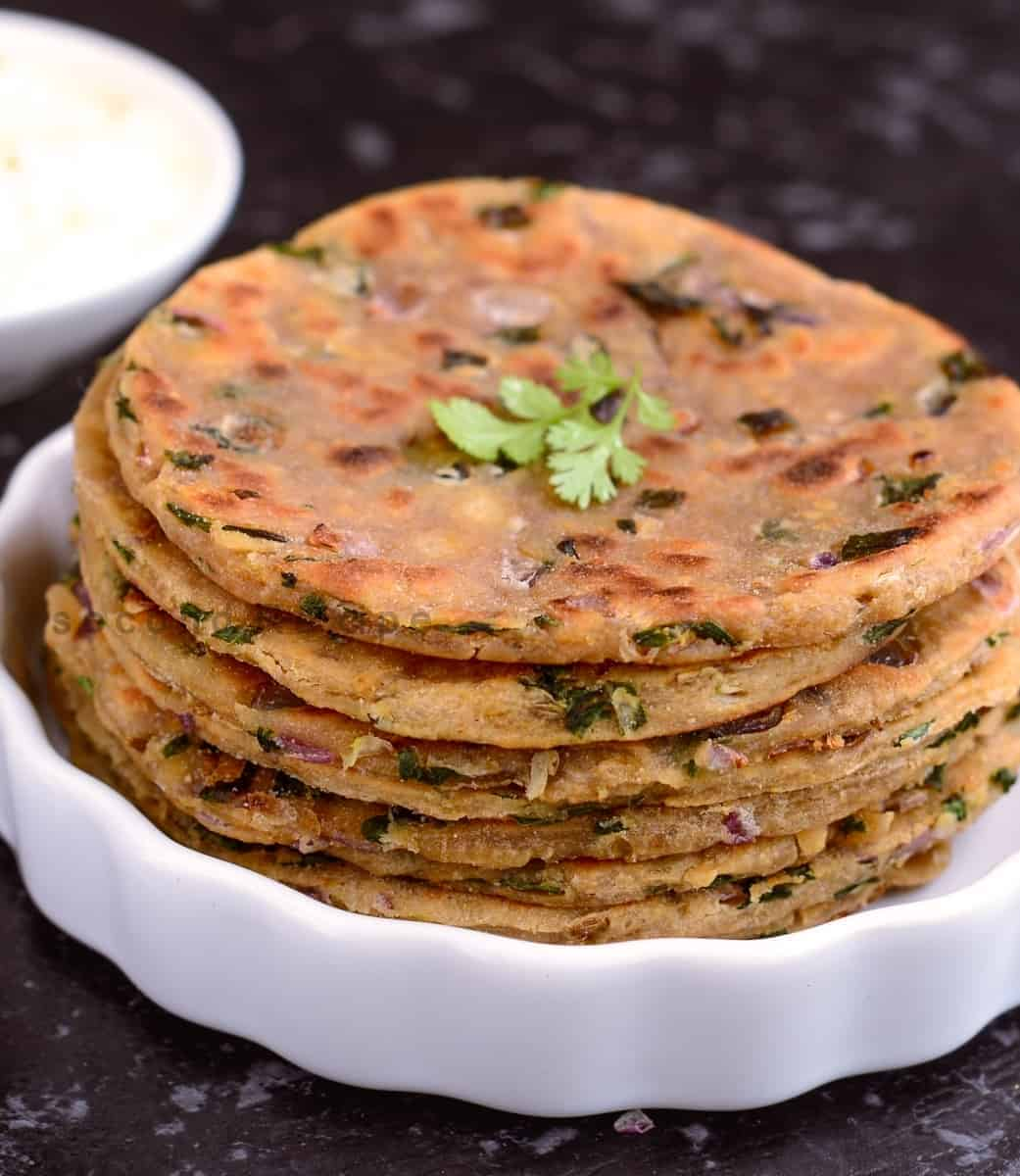 Sindhi Koki-Onion flatbread