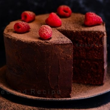 Eggless double layered chocolate cake