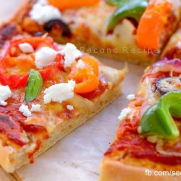 Home baked healthy pizza