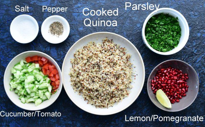 crunchy quinoa salad steps
