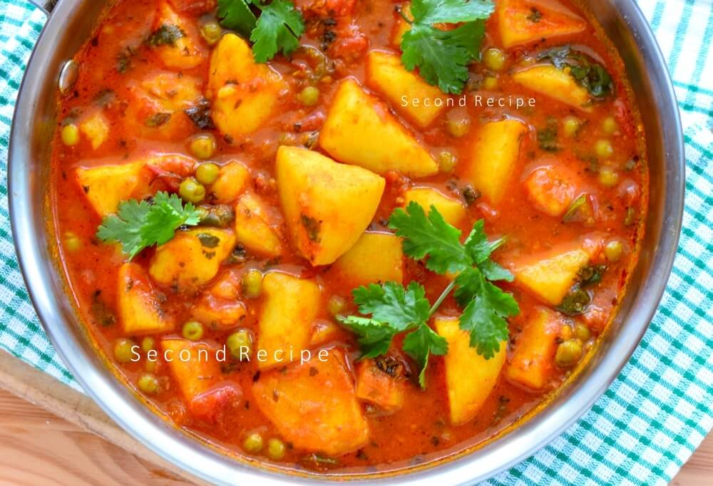 Aloo matar-potato peas curry