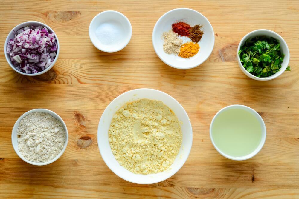 besani -onion chickpea flour flatbread