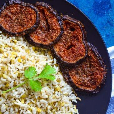 Tariyal Vangan-Sindhi style brinjal fry