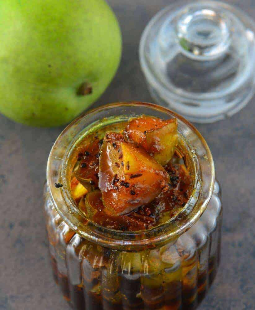 Sweet cut mango pickle