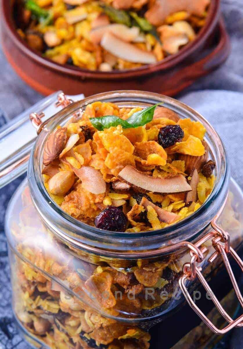 Cornflakes chiwda-roasted snack