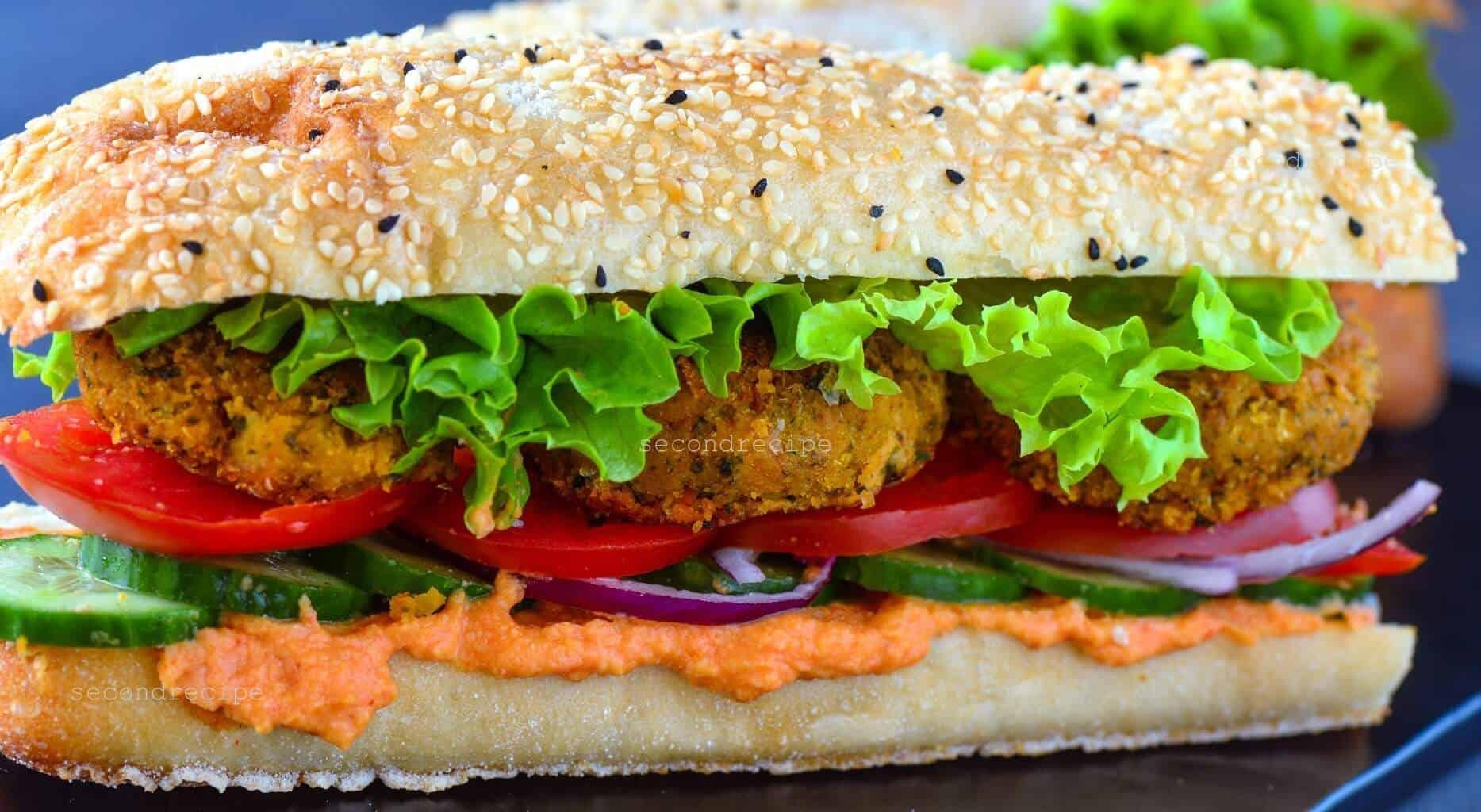 Baked Falafel -vegan chickpea patties