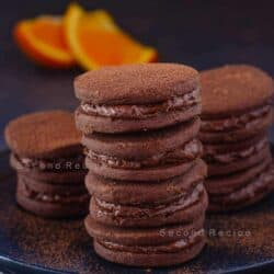 orange chocolate cream cookies