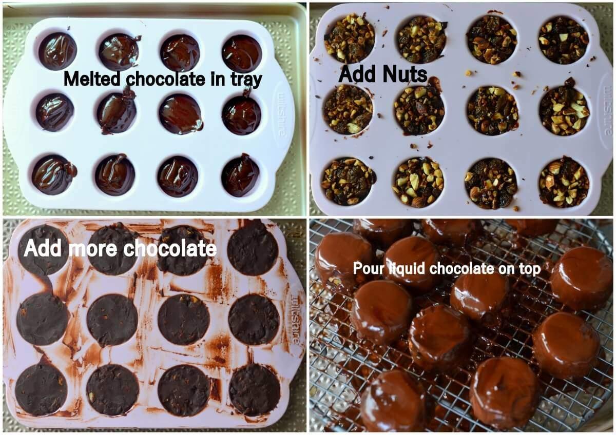 nutty chocolate bites step 2