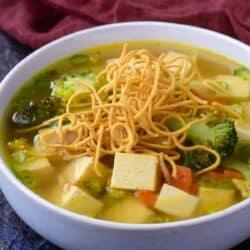 tofu brocolli soup