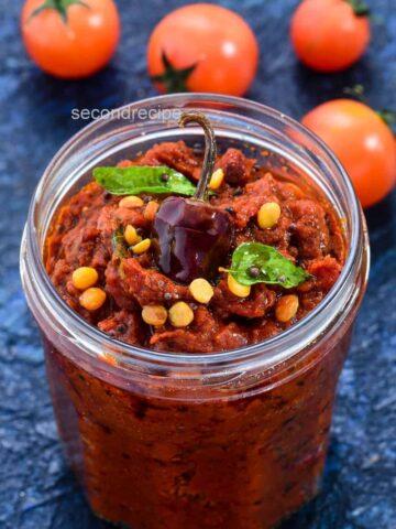 Tomato pachadi-Andhra Tomato Pickle