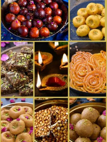diwali sweets platter