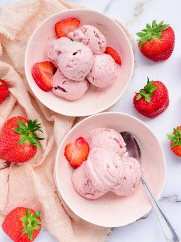 easy strawberry icecream